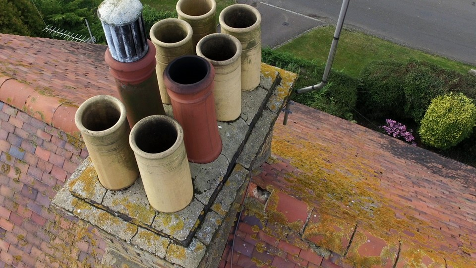 Chimney Drone Roof Inspection